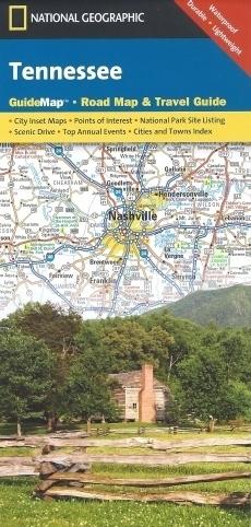 TENNESSEE mapa samochodowa 1:1 000 000 National Geographic