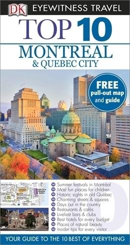 MONTREAL I QUEBEC CITY przewodnik TOP 10 DK ang 2014