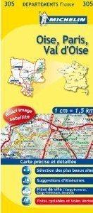 OISE - PARIS - VAL D OISE MAPA 1:150 000 FRANCJA  MICHELIN