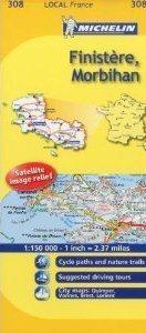 FINISTERE - MORBIHAN  mapa 1:150 000 FRANCJA MICHELIN