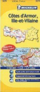 COTES D ARMOR - Ille-et-Vilaine mapa 1:150.000 Francja Michelin