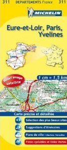 EURE-ET-LOIR - PARYŻ - YVELINES MAPA 1:150 000 FRANCJA MICHELIN
