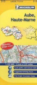 AUBE-HAUTE-MARNE MAPA 1:150 000 FRANCJA MICHELIN
