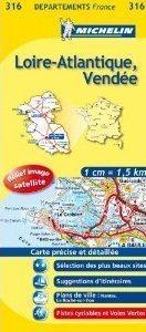 LOIRE-ATLANTIQUE-VENDEE MAPA 1:150 000 FRANCJA MICHELIN