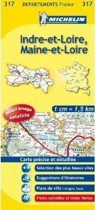 INDRE-ET-LOIRE - MAINE-ET-LOIRE MAPA 1:150 000 FRANCJA MICHELIN