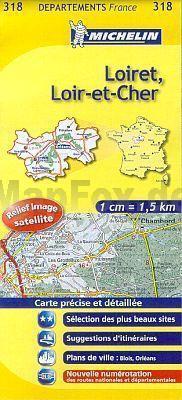LOIRET - LOIT-ET-CHER MAPA 1:150 000 FRANCJA MICHELIN