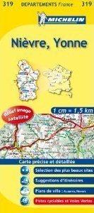 CHER - YONNE/NIEVRE -YONNE  MAPA 1:150 000 FRANCJA MICHELIN