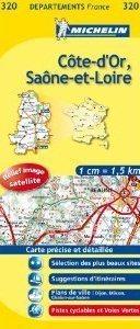 COTE-D OR - SAONE-ET-LOIRE  MAPA 1:150 000 FRANCJA MICHELIN