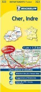 CHER -INDRE  MAPA 1:150 000 FRANCJA MICHELIN