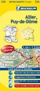 ALLIER - PUY-DE-DOME MAPA 1: 150 000 FRANCJA MICHELIN