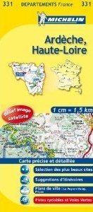ARDECHE - HAUTE - LOIRE  MAPA 1: 150 000 FRANCJA MICHELIN