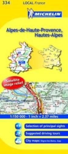 334 Alpy Górnej Prowansji - Alpy Wysokie mapa 1:150 000 MICHELIN