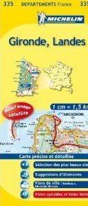 GIRONDE LANDES MAPA 1:150 000 FRANCJA MICHELIN