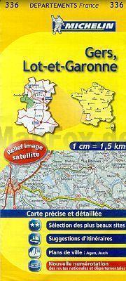 GERS -LOT -ET - GARONNE MAPA 1:150 000 FRANCJA MICHELIN
