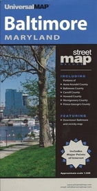 BALTIMORE - MARYLAND plan miasta UNIVERSALMAP USA