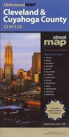 CLEVELAND CUYAHOGA (OHIO) plan miasta UNIVERSALMAP - USA