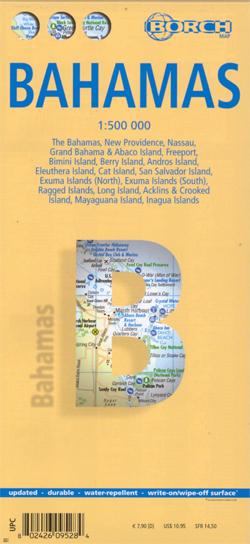 BAHAMY mapa turystyczna 1:500 000 wyd. BROCH