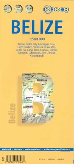 BELIZE mapa turystyczna 1:500 000 wyd. BORCH