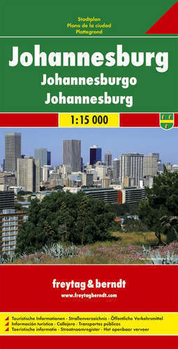 JOHANESBURG plan miasta 1:15 000 FREYTAG & BERNDT