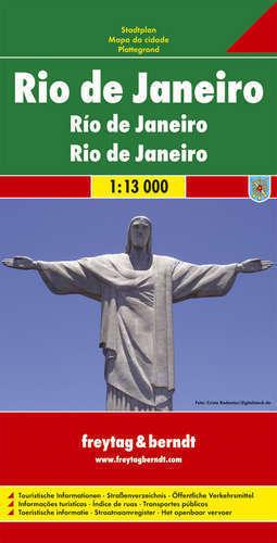 RIO DE JANEIRO plan miasta 1:13 000 FREYTAG & BERNDT