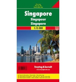 SINGAPUR SINGAPOUR plan miasta 1:12 000 FREYTAG & BERNDT