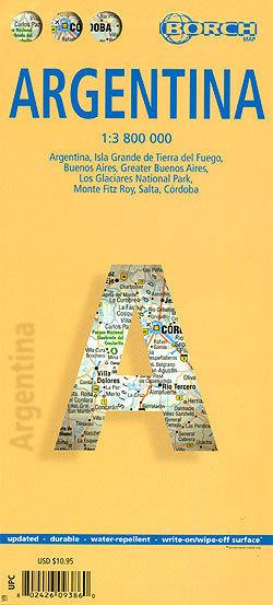 ARGENTYNA w.8 mapa laminowana 1:3 800 000 BORCH