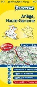 ARIEGE - HAUTE -GARONNE  MAPA 1: 150 000 FRANCJA MICHELIN