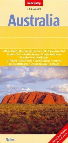 AUSTRALIA mapa samochodowa 1:4 500 000 Nelles