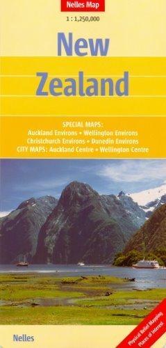 NOWA ZELANDIA mapa samochodowa 1:1 250 000 Nelles