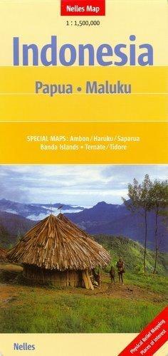 Indonezja PAPUA MALUKU mapa samochodowa 1:1 500 000 Nelles