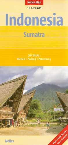 Indonezja SUMATRA mapa samochodowa 1:1 500 000 Nelles