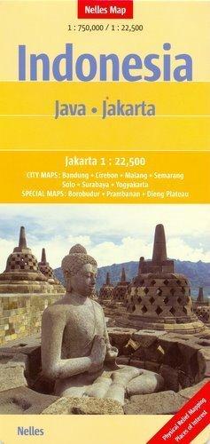 INDONEZJA JAWA  mapa samochodowa 1:750 000 DŻAKARTA 1:22 500 Nelles