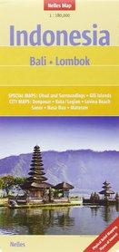 Indonezja BALI LOMBOK mapa samochodowa 1:180 000 Nelles
