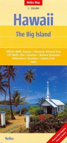 Hawaje The Big Island mapa samochodowa 1:330 000 Nelles