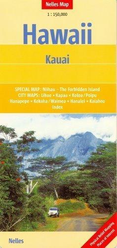 Hawaje KAUAI mapa samochodowa 1:150 000 Nelles