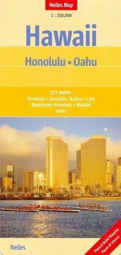 Hawaje HONOLULU OAHU mapa samochodowa 1:150 000 Nelles
