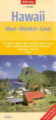 Hawaje MAUI MOLOKAI LANAI mapa samochodowa 1:150 000 Nelles