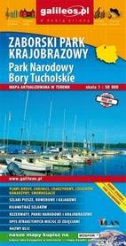 ZABORSKI PARK KRAJOBRAZOWY, PARK NARODOWY BORY TUCHOLSKIE mapa turystyczna 1:50 000 PLAN