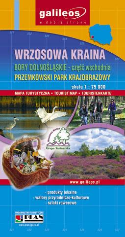 WRZOSOWA KRAINA BORY DOLNOŚLĄSKIE cz. wschodnia PRZEMKOWSKI PARK KRAJOBRAZOWY mapa turystyczna 1:75 000 PLAN