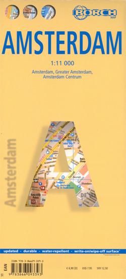 AMSTERDAM plan miasta laminowany 1:11 000 BORCH MAP 2016