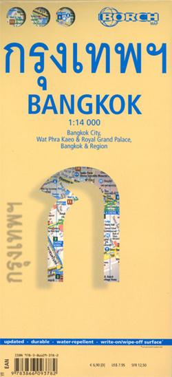 BANGKOK plan miasta laminowany 1:14 000 BORCH