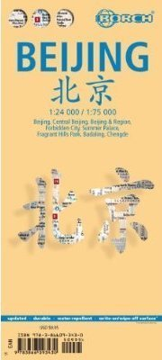 PEKIN BEIJING plan miasta laminowany 1:24.000 / 1:75.000 BORCH MAP