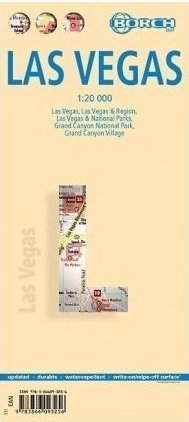 LAS VEGAS oraz Grand Canyon Nationalpark - plan miasta laminowany 1:20 000 BORCH MAP 2015