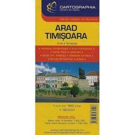 ARAD TIMISOARA 1:18 000 plan miasta CARTOGRAPHIA
