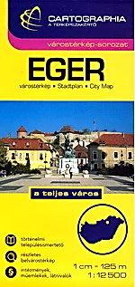 EGER plan miasta 1:12 500 CARTOGRAPHIA