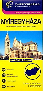 NYIREGYHAZA plan miasta 1:20 000 CARTOGRAPHIA