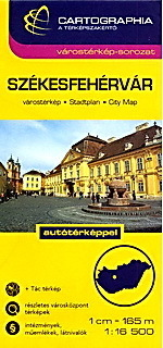 SZEKESFEHERVAR plan miasta 1:16 500 CARTOGRAPHIA