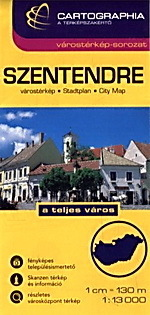 SZENTENDRE plan miasta 1:13 000 CARTOGRAPHIA
