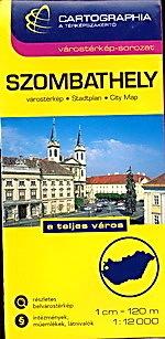 Szombathely plan miasta 1:12 000 CARTOGRAPHIA