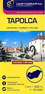 TAPOLCA plan miasta 1:10 000 CARTOGRAPHIA